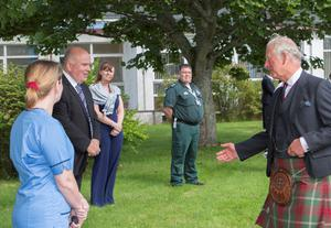 The Prince of Wales visited Caithness General Hospital in Wick (NHS Highland/PA)