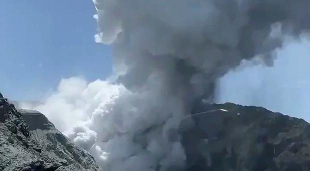 A total of 47 people were on White Island when the volcano erupted on Monday (Michael Schade/AP)