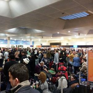 Passengers faced long delays at Gatwick Airport on Christmas Eve