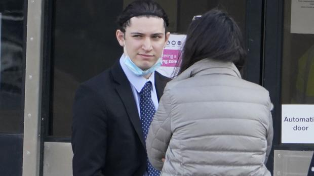 Student Jamie Swain, 21, outside North Tyneside Magistrates' Court, North Shields (Owen Humphreys/PA)