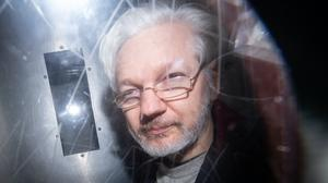 Julian Assange is being held on remand in high-security Belmarsh prison (Dominic Lipinski/PA)