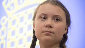 Greta Thunberg at the House of Commons (Stefan Rousseau/PA)