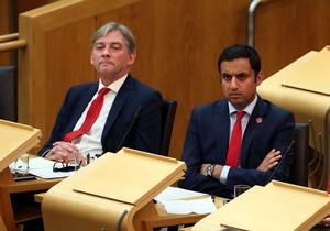 Richard Leonard (left) defeated fellow MSP Anas Sarwar to become Scottish Labour leader in November 2017. (Andrew Milligan/PA)