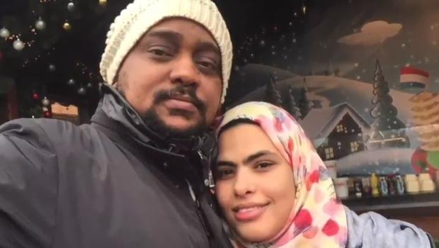 Rania Ibrahim with husband Hassan Awadh Hassan (Grenfell Tower inquiry/PA)