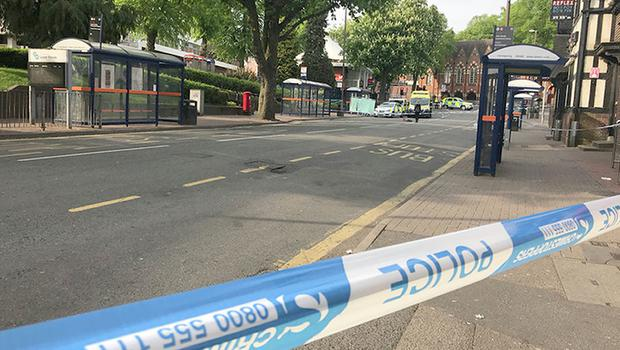 Police activity at the scene in Lower Parade, Sutton Coldfield (Phil Barnett/PA)