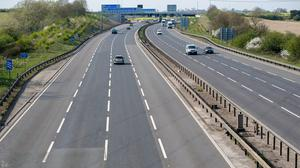 One driver was caught doing more than 150mph on the nearly empty M1 (Joe Giddens/PA)