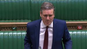 Sir Keir Starmer speaks during Prime Minister's Questions (House of Commons/PA)
