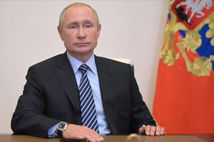 Vladimir Putin has been accused of looking to 'up the ante' against the West with alleged anti-satellite tests (Alexei Druzhinin/AP)