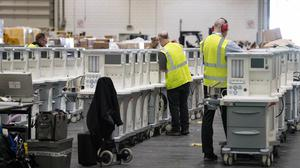 Ventilators are stored and ready to be used by Coronavirus patients at the ExCel centre in London which is being made into a temporary hospital – the NHS Nightingale hospital, comprising of two wards, each of 2,000 people, to help tackle coronavirus.