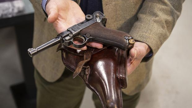 The German Luger pistol was handed in during a police amnesty and donated to the Tank Museum (Tank Museum/PA)