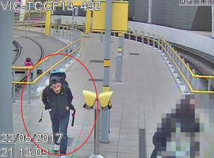 CCTV of Salman Abedi making his way to Manchester Arena (GMP/PA)