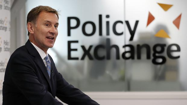 Conservative leadership contender Jeremy Hunt discusses his Brexit plans (Frank Augstein/PA)