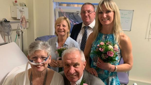Pauline Manning and her family on her wedding day (East Kent Hospitals University NHS Foundation Trust)