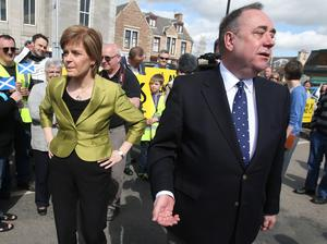 Nicola Sturgeon served as Alex Salmond's deputy, but the relationship between the two politicans became more difficult. (Andrew Milligan/PA)