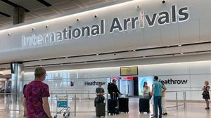 People in Terminal 2 arrivals at London Heathrow, Airport Operators Association (AOA) chief executive Karen Dee said she has not received any details yet about a mandatory 14-day quarantine for all travellers into the UK (Kirsty O'Connor/PA)