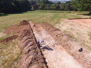 The excavation site in Lincolnshire Wolds (University of Sheffield/PA)