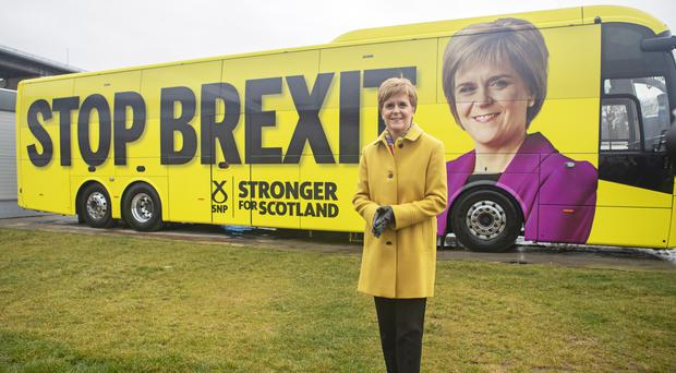 Stopping Brexit has been a key part of the SNP campaign, alongside demands for a second independence referendum. (Jane Barlow/PA Wire/PA Images)