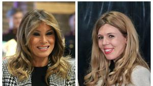 Melania Trump and Carrie Symonds (PA)