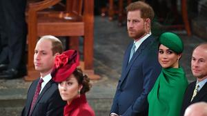 The Duke and Duchess of Sussex and Duke and Duchess of Cambridge (Phil Harris/Daily Mirror/PA)