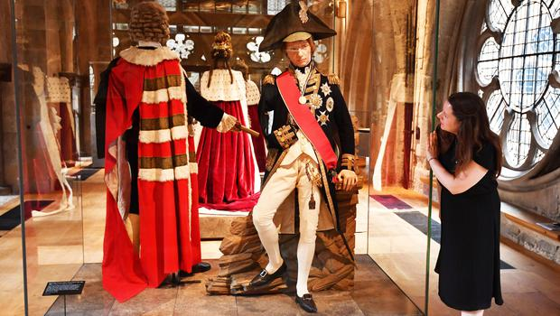 A full-size effigy of Viscount Horatio Nelson during the preview for the opening of Queen's Diamond Jubilee Galleries at Westminster Abbey (John Stillwell/PA)