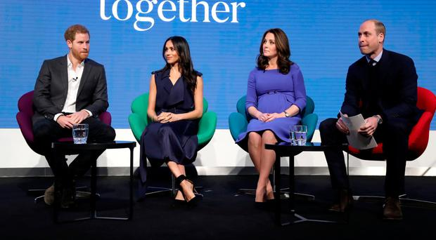 The Duke of Sussex, Duchess of Sussex, Duchess of Cambridge and the Duke of Cambridge who will voice a new mental health campaign that will be simultaneously broadcast to millions of television viewers