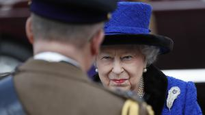 The Queen attends a service to celebrate the centenary of the granting by King George V of the prefix 'Royal' to the Royal Army Chaplains' Department, at the Guards' Chapel, Wellington Barracks, London (Frank Augstein/PA)