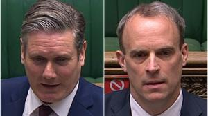 Keir Starmer and Dominic Raab (House of Commons/PA)