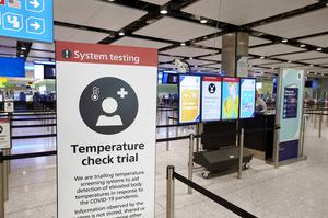Temperature screening equipment being trialled at London Heathrow Airport (LHR Airports Ltd/PA Media)