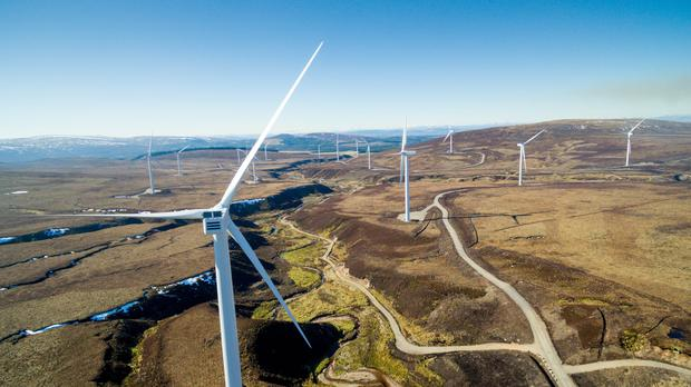 Renewable energy is the fastest-growing natural resource being used in Scotland according to a new study (Mars/PA)