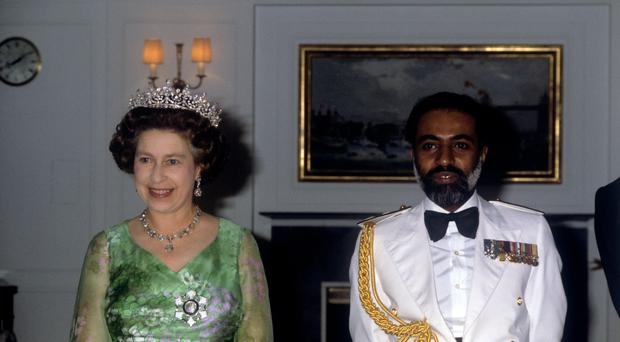 The Queen with the Sultan of Oman, Sultan Qaboos bin Said in 1979 (Ron Bell/PA)