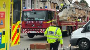 Emergency services at a property in Springfield Road, Windsor (Jamie Rose/PA)