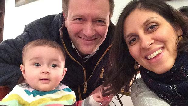 Nazanin Zaghari-Ratcliffe with husband Richard Ratcliffe and their daughter Gabriella (Family handout/PA)