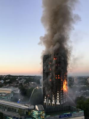 The fire swept through Grenfell Tower in west London on June 14 last year (Natalie Oxford/PA)