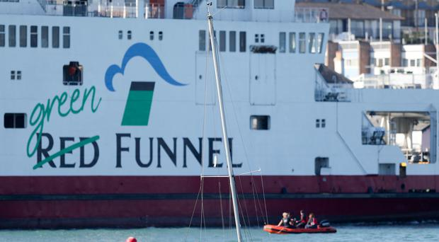 The Red Funnel ferry, Red Falcon, which was involved in a collision (Andrew Matthews/PA)