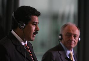Venezuelan President Nicolas Maduro (left) with then mayor Ken Livingstone at London's City Hall in 2007 (Johnny Green/PA)