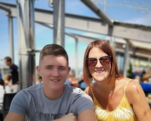 Lindsay Birbeck with her son Steven (Lancashire Police/PA)
