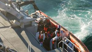 Image of migrants (Prefecture Maritime du Nord/PA)