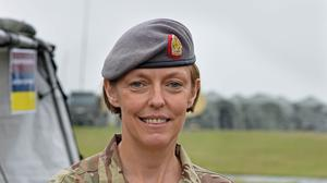 Lieutenant Colonel Alison McCourt who has been awarded an OBE for her contribution contribution to the fight against Ebola.