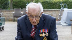 Tom Moore,a 99-year-old veteran. has raised millions for the NHS (Tom Moore/PA)