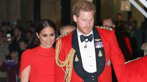 The Duke and Duchess of Sussex arrive at the Royal Albert Hall in London to attend the Mountbatten Festival of Music (Jonathan Brady/PA).
