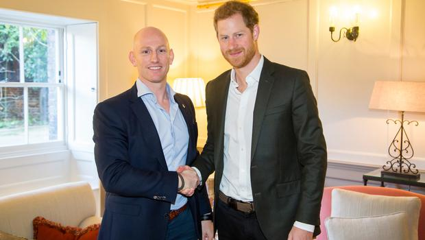 Prince Harry and Dean Stott worked together on the fundraising campaign (PA)