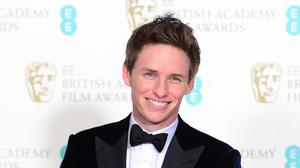 Eddie Redmayne with his leading actor Bafta for his performance as Professor Stephen Hawking in The Theory Of Everything