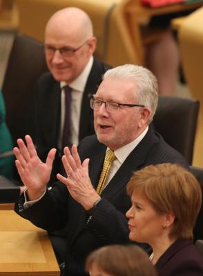 Mike Russell (centre) said the Scottish Government has at all times stressed the need to compromise (Jane Barlow/PA)