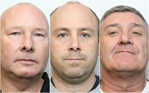 From left, Vincent Ball, Thomas Mee and John Barlow (Cheshire Constabulary/PA)