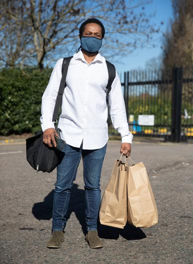 Theo Paulse leaving the Radisson Blu Edwardian hotel near Heathrow Airport after completing his 10-day quarantine (Andrew Matthews/PA)