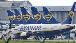 A Ryanair passenger was taken off a flight after testing positive for coronavirus (Niall Carson/PA)