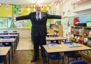 Prime Minister Boris Johnson has says GCSE and A-level exams should go ahead as normal in the coming academic year (Lucy Young/Evening Standard/PA)
