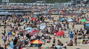 Sunseekers flocked to Bournemouth beach on Monday, prompting a reminder from the local council that there were other beauty spots to enjoy (Andrew Matthews/PA)