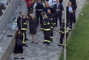 Theresa May visited the scene near Grenfell Tower in June (Rick Findler/PA)