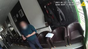 Police camera image of the barber shop in Northfleet, Kent (Kent Police/PA)